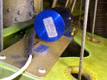 Series 160 position transducer installed on a 727 aircraft by ASM, Inc. of Georgetown, Texas USA
