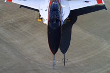Model 100700-03 air data boom (pitot static) shown on the KAI / Lockheed Martin T-50 trainer aircraft