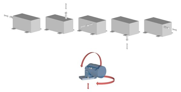 Figure 2 - Installation flexibility can eliminate special mounting fixtures and reduce installation time from hours to minutes.