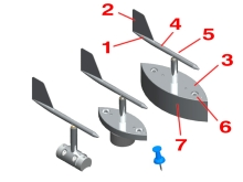 100386, 100386-01, and 100386-02 miniature vane assemblies for airflow measurement