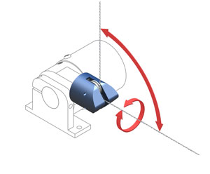 Figure 18 - The RoundAboutTM allows the displacement cable to exit the sensor at virtually any angle.