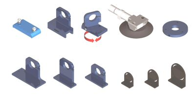Figure 4 - A few mounting base options